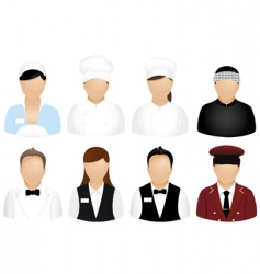 Restaurant people icons vector