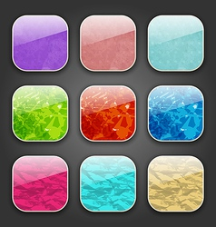 Backgrounds with grunge texture for the app icons vector
