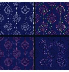 Blue circles vector image