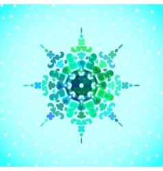 snowflakes for Christmas design vector image