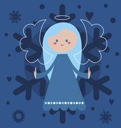 Blue angel vector
