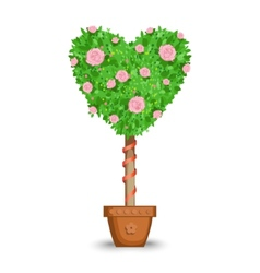 Love tree in a pot vector