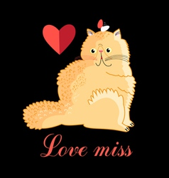 Persian cat in love vector