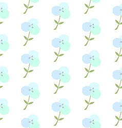 Cotton flower patterncotton plant floral seamless vector