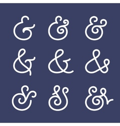 Ampersand collection vector