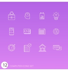 Set of thin line icons for your design vector