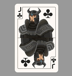 Jack of clubs playing card vector