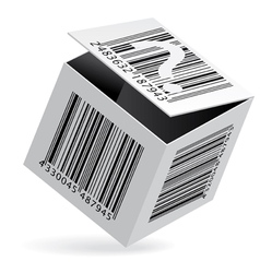Bar code box vector