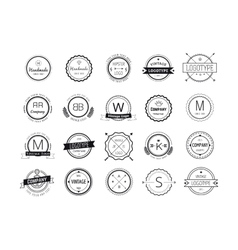 Massive logo badges template bundle vector