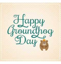 Card for Groundhog Day vector image