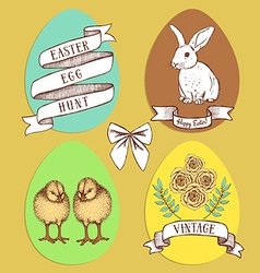 Easter edd hunt set vector