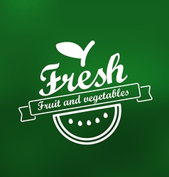 Fresh menu label design lineart concept vector
