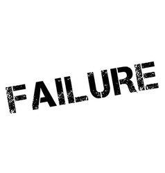 Failure black rubber stamp on white vector