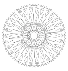 Coloring geometric rays ornament vector