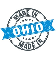 Made in ohio blue round vintage stamp vector