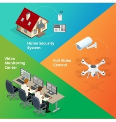 Alarm system security system security camera vector