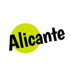 Alicante sticker stamp vector