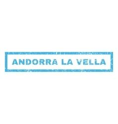 Andorra la vella rubber stamp vector
