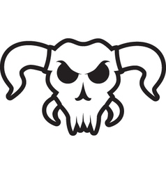 Angry bull skull with extra horns vector