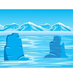 Arctic landscape with iceberg vector image vector image
