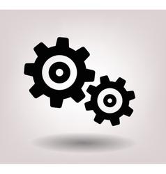 Black gearwheel mechanism vector