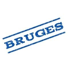 Bruges watermark stamp vector
