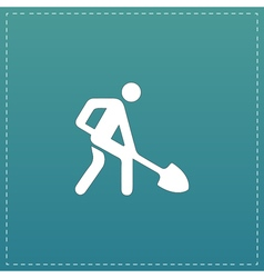 Building site flat icon vector