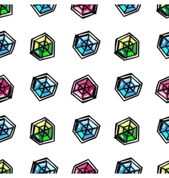 Cartoon diamonds seamless pattern vector