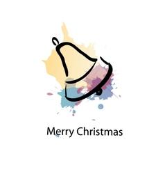Christmas object with sample text vector image
