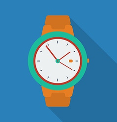 Clock icon modern flat style with a long shadow vector