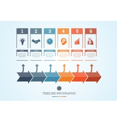 Conceptual business timeline infographic 6 vector
