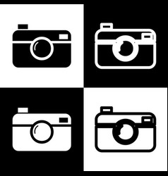 Digital photo camera sign black and white vector