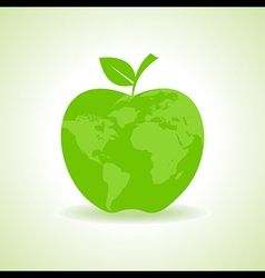 Eco Apple icon with map stock vector image