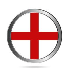 England flag button vector image
