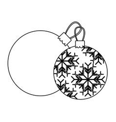 Figure christmas balls icon vector
