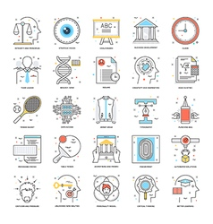 Flat Color Line Icons 20 vector image