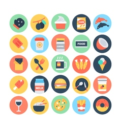 Food flat icons 12 vector