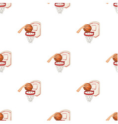 hand with a ball near the basketbasketball vector image vector image