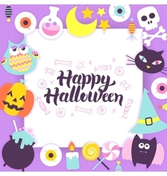 Happy halloween paper template vector