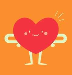 Happy heart feeling good vector