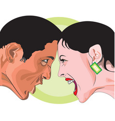 man and woman fighting vector image