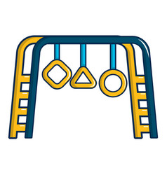 Park playground equipment icon cartoon style vector