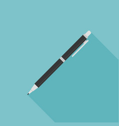 Pen or pencil icon with long shadow vector