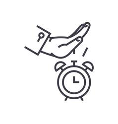 Procastination line icon sign vector