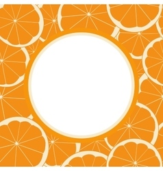 round frame with seamless pattern of orange fruit vector image vector image