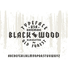 Sanserif font in black letter style vector