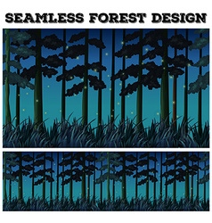 Seamless background with forest at night vector image vector image