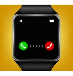 Smart watches accepting an incoming call vector