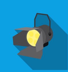 Spotlight icon in flat style isolated on white vector