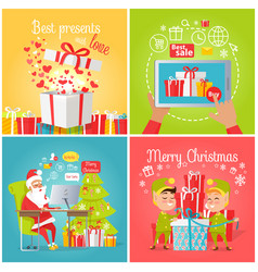 Best presents with love sale merry christmas vector
